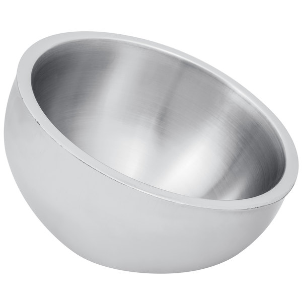 American Metalcraft AB12 108 oz. Double Wall Angled Insulated Serving Bowl - Stainless Steel