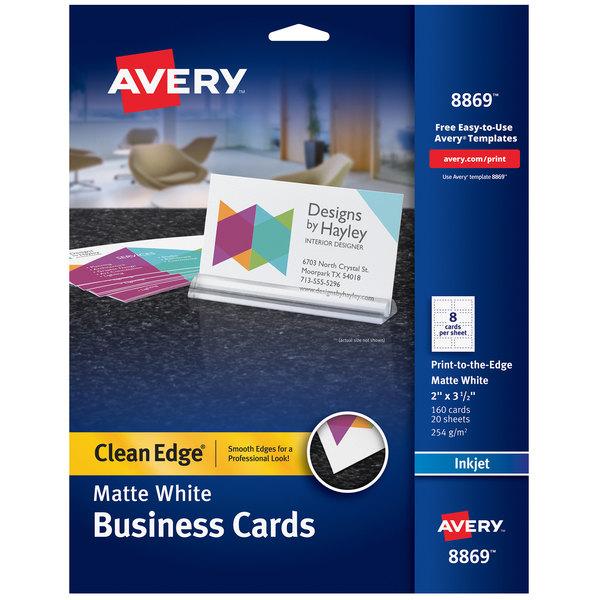 Avery 08869 2 X 3 1 2 Matte White Clean Edge Premium Two Sided
