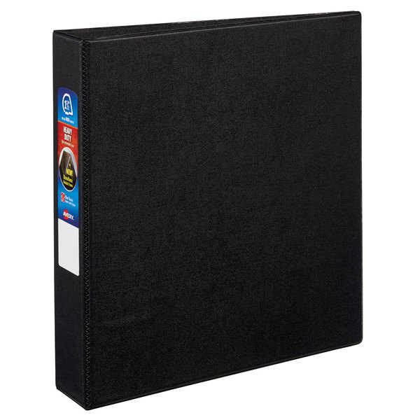 """Avery 79985 Black Heavy-Duty Non-View Binder with 1 1/2"""" Locking One Touch EZD Rings Main Image 1"""