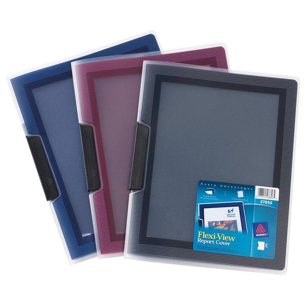 avery 47856 flexi view 11 x 8 1 2 assorted color polypropylene