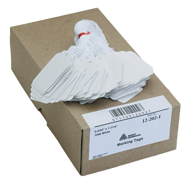Avery White Marking Tags Office Products Tape, Adhesives ...