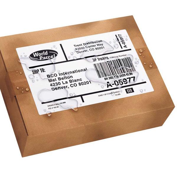 "Avery 95526 WeatherProof 8 1/2"" x 5 1/2"" White Mailing Labels with TrueBlock Technology Label - 1000/Box"