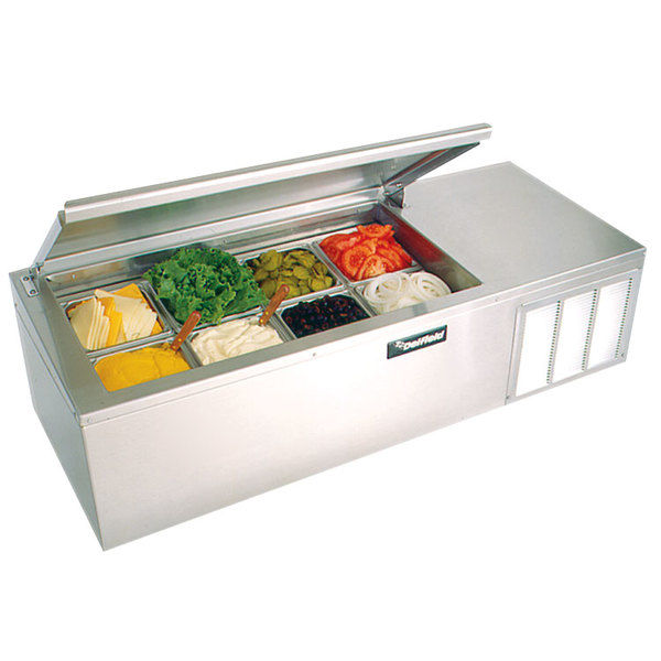 Delfield CTP 8160-NB 60 inch Countertop Refrigerated Prep Rail