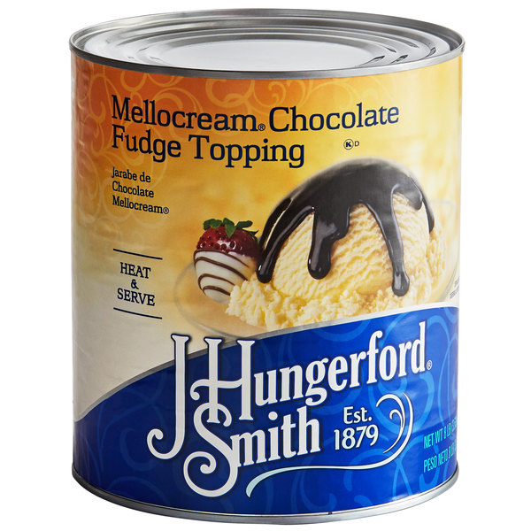 J. Hungerford Smith #10 Can Mellocream Chocolate Fudge Topping - 6/Case