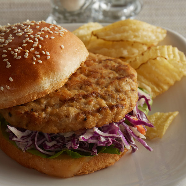 Brakebush 3.25 oz. Fully Cooked, Gluten-Free Flame Grilled Chicken Burger Main Image 2