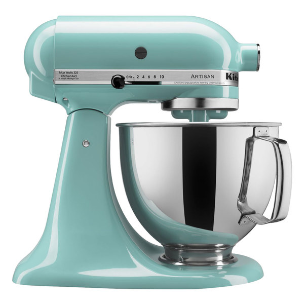 KitchenAid KSM150PSAQ Artisan Series Aqua Sky 5 Qt. Tilt Head Countertop Mixer - 120V