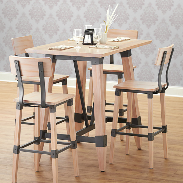 Lancaster Table Seating 30 X 48 Solid Wood Live Edge Top With Antique White Wash Finish