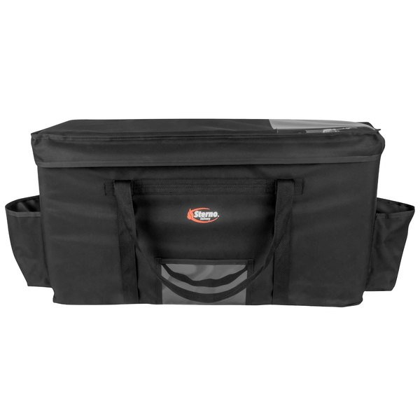 """Sterno Products 70537 Delivery Deluxe Space Saver 32"""" x 13"""" x 17 3/4"""" 4XL Insulated Food Carrier - Holds (15) 9"""" x 9"""" x 3"""" Meal Containers"""