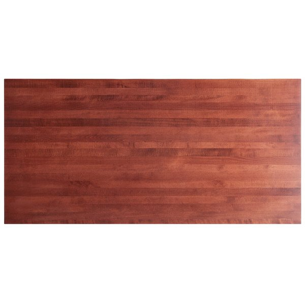 """Lancaster Table & Seating 30"""" x 60"""" Solid Wood Live Edge Table Top with Mahogany Finish Main Image 1"""