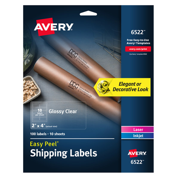 photo regarding Clear Printable Labels called Avery 06522 2\