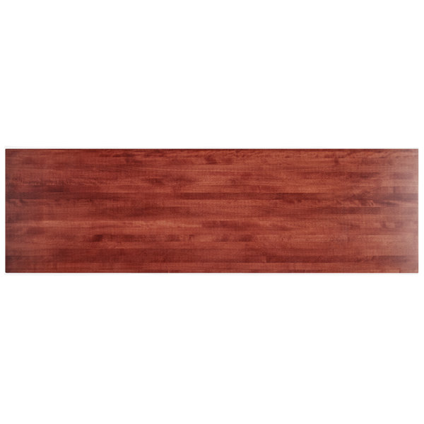 """Lancaster Table & Seating 30"""" x 96"""" Solid Wood Live Edge Table Top with Mahogany Finish Main Image 1"""