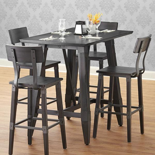 Lancaster Table Seating 30 X 48, Slate Dining Room Table Setup