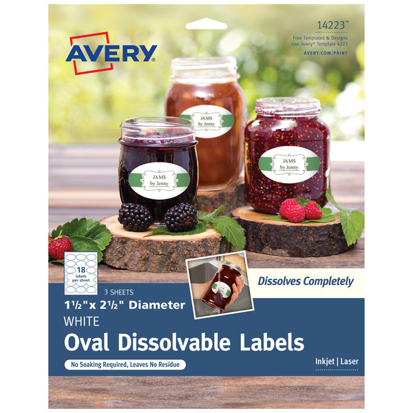 photograph relating to Oval Printable Labels titled Avery 14223 1 1/2\