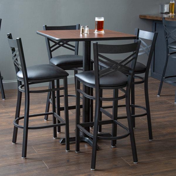 Lancaster Table Seating 30 X Reversible Walnut Oak Bar Height Dining Set