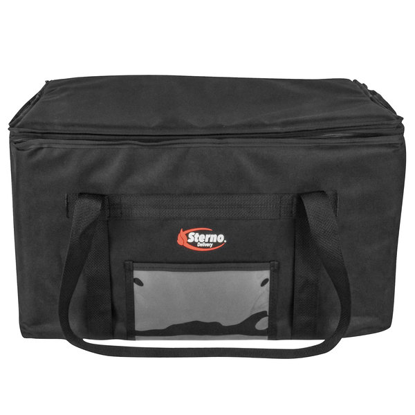 """Sterno Products 70523 Delivery Space Saver 22"""" x 13"""" x 14"""" 3XL Insulated Food Carrier - Holds (8) 9"""" x 9"""" x 3"""" Meal Containers"""