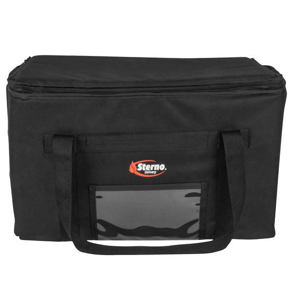 "Sterno Products 70513 Catering Space Saver 24"" x 16"" x 14"" Large Insulated Food Carrier - Holds (3) Full Size Food Pans"