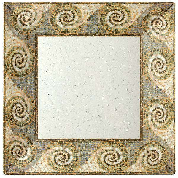 "GET ML-102-MO Mosaic 6"" Square Plate - 12/Pack Main Image 1"