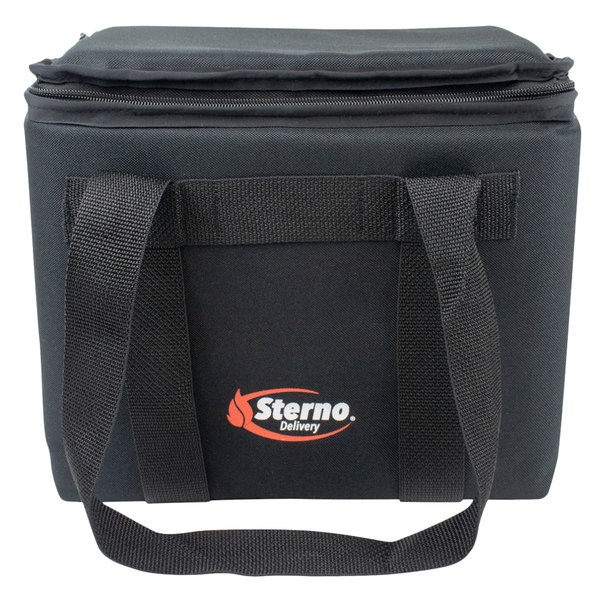 "Sterno Products 72602 12"" x 9 1/2"" x 10"" Small Delivery Insulated Food Carrier - Holds (12) Cans"