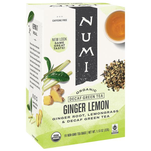 Numi Organic Decaf Ginger Lemon Tea Bags - 16/Box Main Image 1