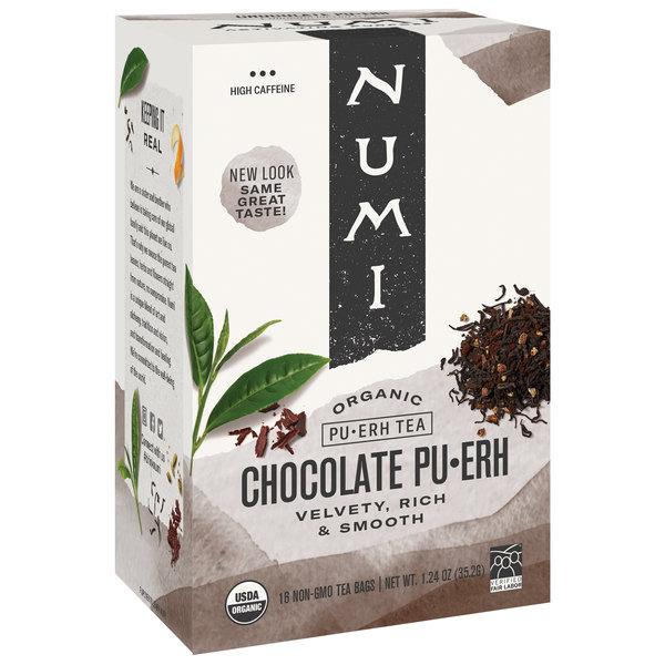 Numi Organic Chocolate Pu-Erh Tea Bags - 16/Box Main Image 1