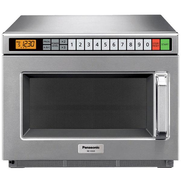 Panasonic Ne 12523 Stainless Steel Medium Duty Commercial Microwave Oven 120v 1200w