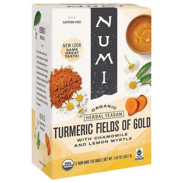 Numi Organic Fields of Gold Turmeric Tea Bags - 12/Box Main Image 1
