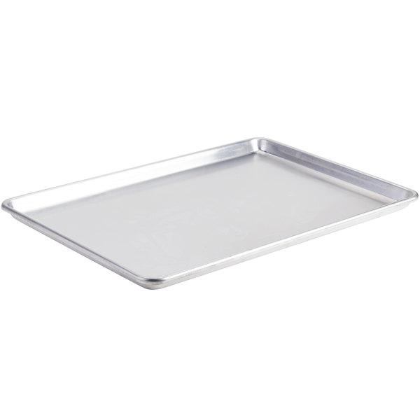 Baker S Mark Full Size Nsf 12 Gauge 18 X 26 Open Bead Semi Curled Rim Aluminum Bun Sheet Pan