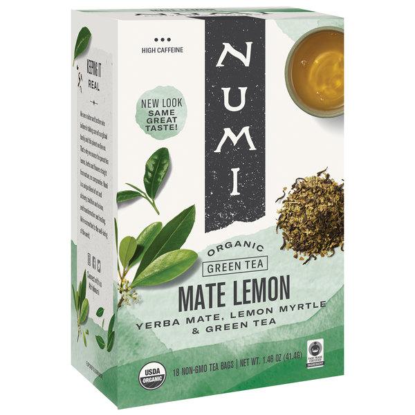 Numi Organic Mate Lemon Tea Bags - 18/Box Main Image 1