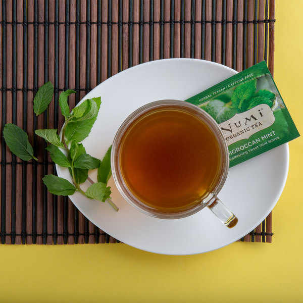 Numi Organic Moroccan Mint Tea Bags - 100/Case