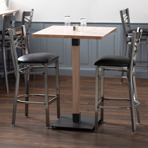 Amazing Lancaster Table Seating 30 Square Solid Wood Live Edge Bar Height Table With Antique White Wash Finish Pabps2019 Chair Design Images Pabps2019Com