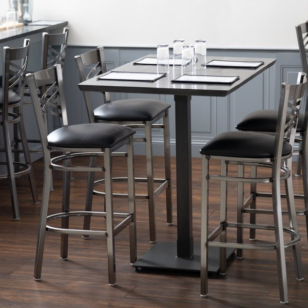 Awesome Lancaster Table Seating 30 X 48 Solid Wood Live Edge Bar Height Table With Antique Slate Gray Finish Andrewgaddart Wooden Chair Designs For Living Room Andrewgaddartcom