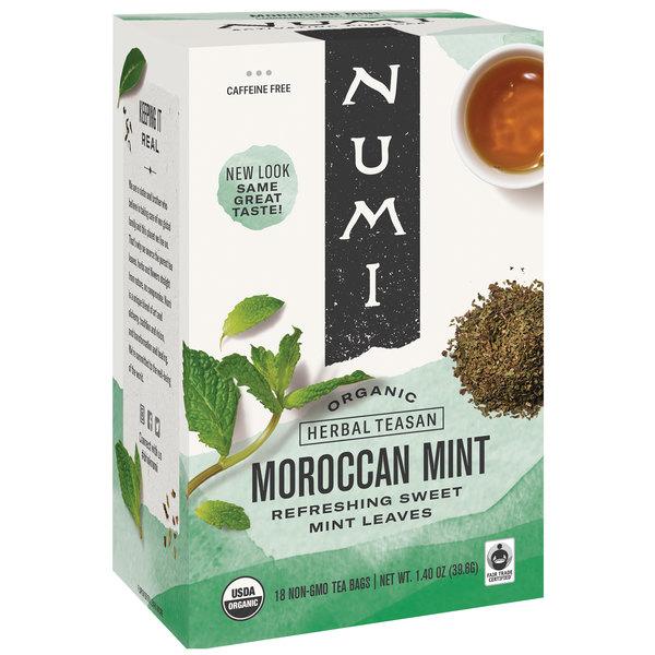 Numi Organic Moroccan Mint Herbal Tea Bags - 18/Box Main Image 1