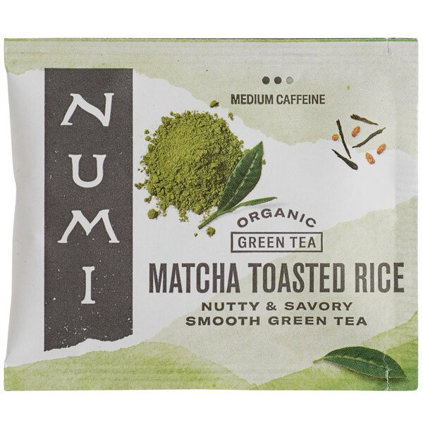 Numi Organic Matcha Toasted Rice Tea Bags - 100/Case Main Image 1