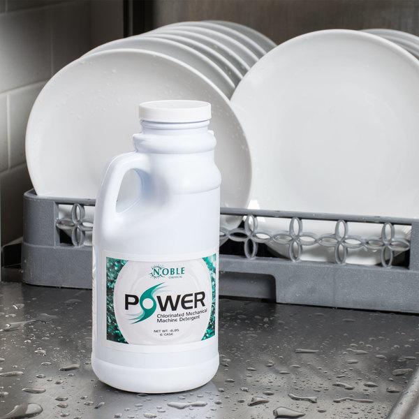 Noble Chemical 4 lb. / 64 oz. Power Machine Dishwasher lb. / Laundry Detergent - 6/Case