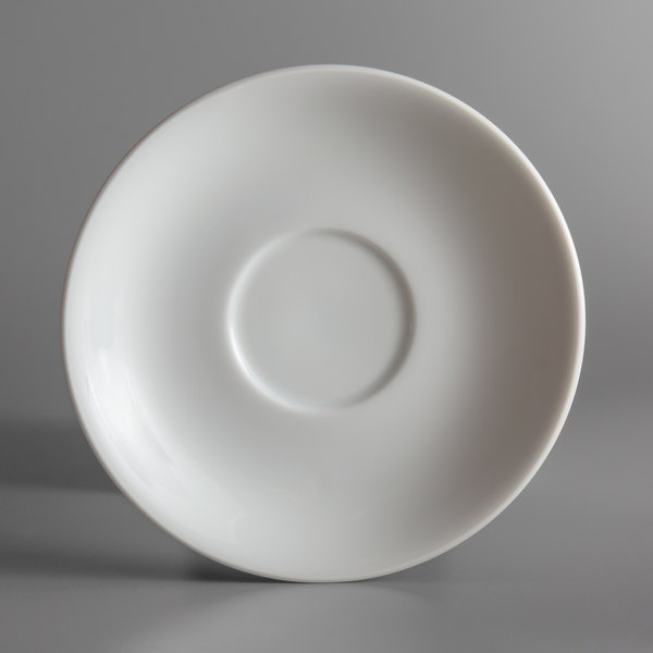 "Oneida L5803050501 Ivy Flourish 6"" Bright White Porcelain Saucer - 24/Case"