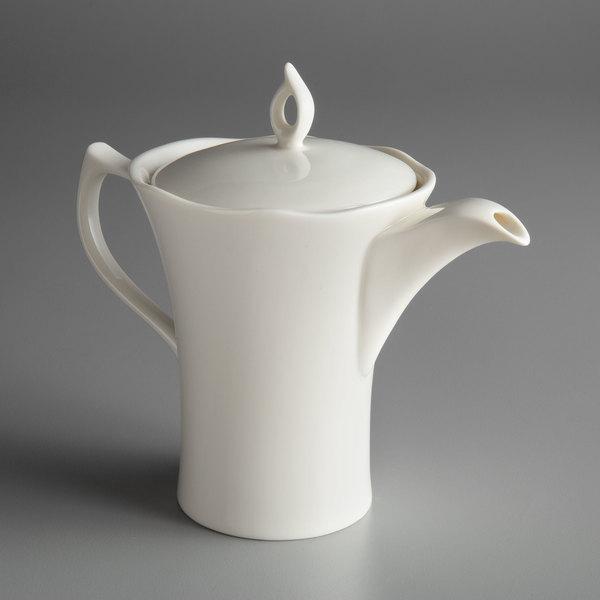 Oneida L6700000860 Lancaster Garden 12 Oz White Porcelain Tea Pot 12 Case