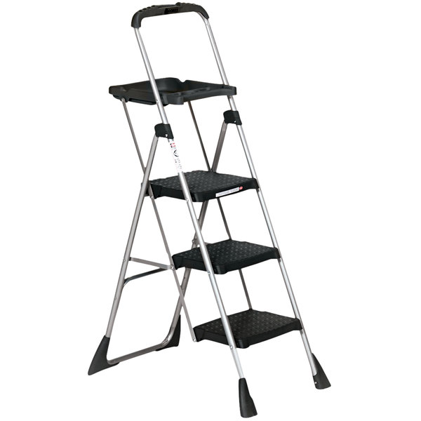 Magnificent Cosco 11880Pblw1 Max Steel 3 Step Folding Step Ladder With Work Platform Camellatalisay Diy Chair Ideas Camellatalisaycom
