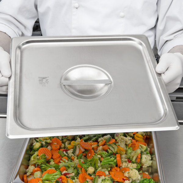 Vollrath 75110 Super Pan V 2/3 Size Solid Stainless Steel Steam Table / Hotel Pan Cover