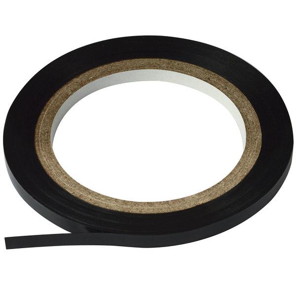 "Cosco 098077 Black 1/8"" x 324"" Gloss Finish Art Tape"
