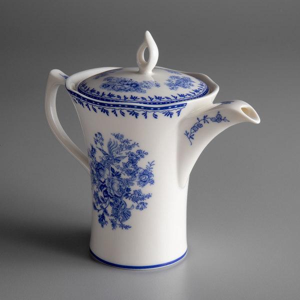 Oneida L6703061860 Lancaster Garden 12 Oz Blue Porcelain Tea Pot 12 Case