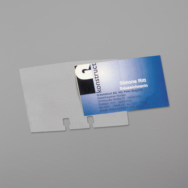 Double Sided Business Card Sleeves