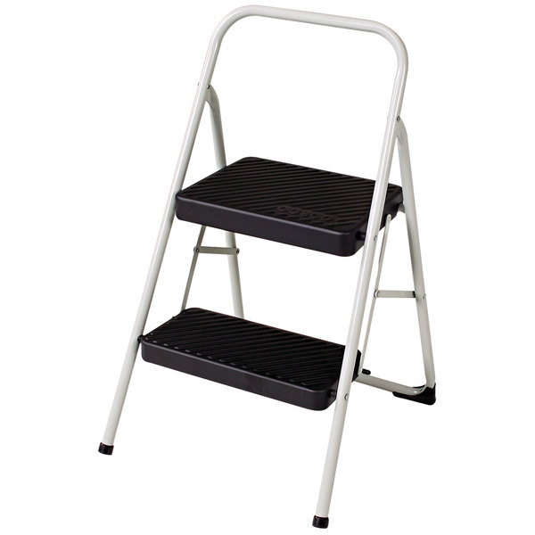 Awe Inspiring Cosco 11135Clgg1 Cool Gray Two Step Folding Step Stool Inzonedesignstudio Interior Chair Design Inzonedesignstudiocom