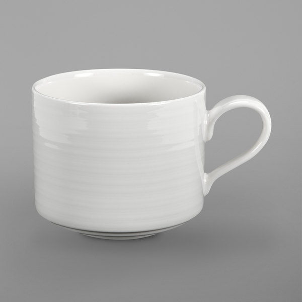 Oneida R4898998535 Chord 3 5 Oz Stackable White Porcelain Espresso Cup 36 Case