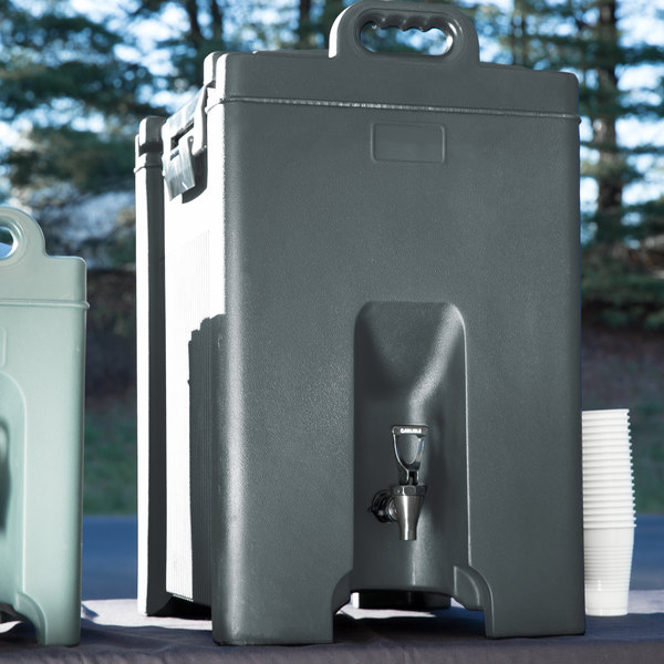 Carlisle XT1000059 Cateraide Slate Blue 10 Gallon Insulated Beverage Dispenser
