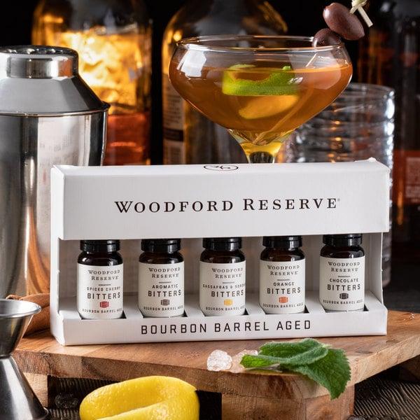 Woodford Reserve Five-Pack Dram Set Bourbon Barrel Aged Bitters