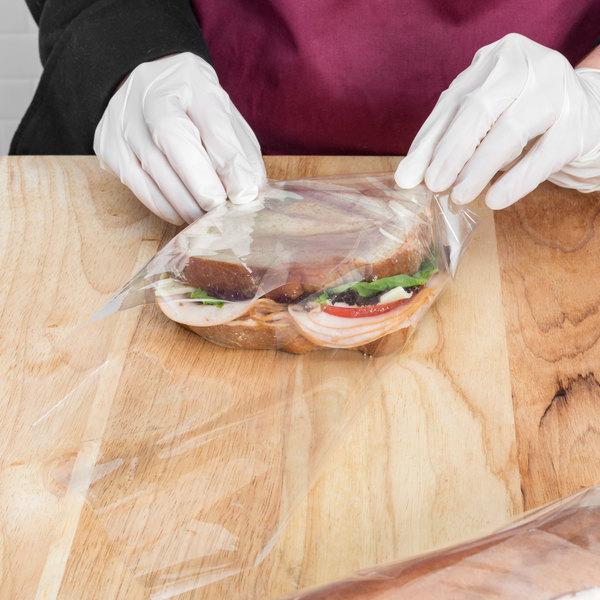 """LK Packaging 14"""" x 14"""" BOPP Clear Deli Sandwich Wrap - 1000/Case Main Image 4"""