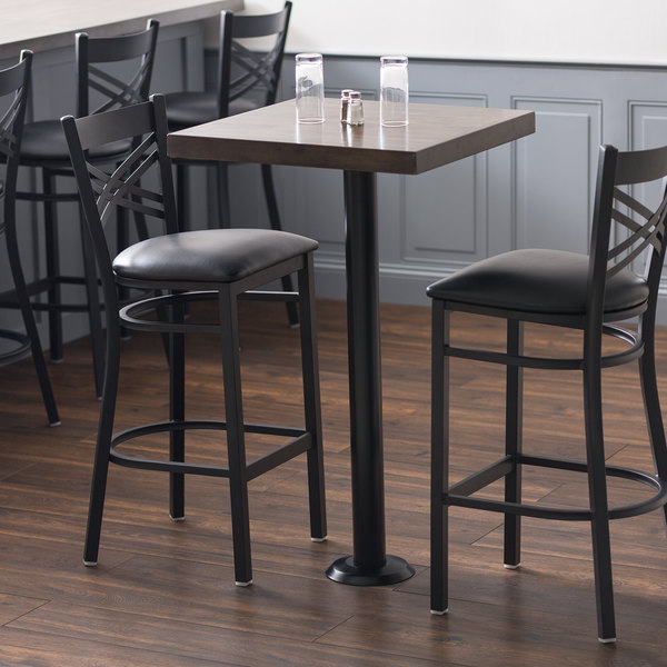 Brilliant Lancaster Table Seating Black Bolt Down Base 3 Bar Height Column Table Base Caraccident5 Cool Chair Designs And Ideas Caraccident5Info