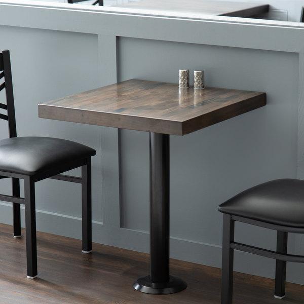 "Lancaster Table & Seating Black Bolt Down Base 3"" Standard Height Column Table Base Main Image 6"