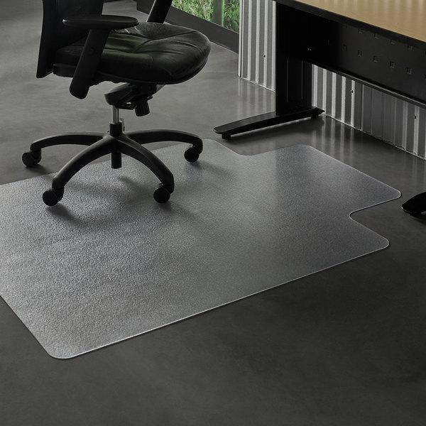 Es Robbins 132333 Everlife 60 X 46 Clear Vinyl Lipped Straight Edge Heavy Use Hard Floor Chair Mat