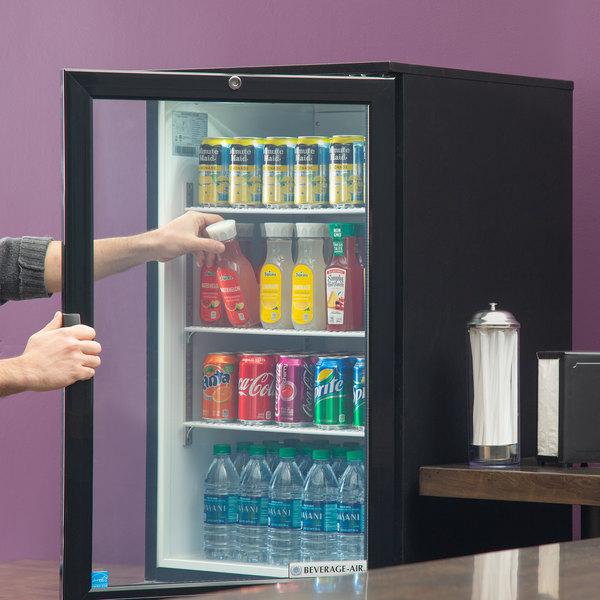 Beverage-Air CT96HC-1-B Black Countertop Display Refrigerator with Swing Door Main Image 6